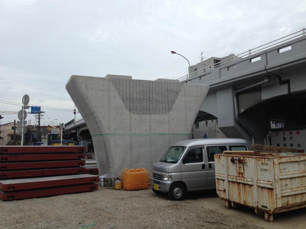 町田線 道路橋脚工事